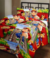 Comfort Home 110 TC Polyester Single Cartoon Bedsheet(Pack of 1, Multicolor)