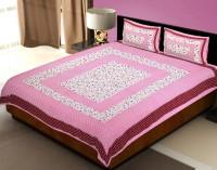 Neon furnishing Cotton Double King Motifs Bedsheet(Pack of 1, White, Green, Pink, gray)