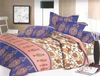 Shreejee 210 TC Cotton Double Abstract Bedsheet(Pack of 1, MUJLTI COLOUR)