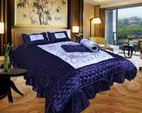 El Sandalo Ethnic Satin Bedding Set(Blue)