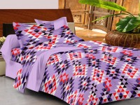 Casa Basics 144 TC Cotton Double Floral Bedsheet(Pack of 1, Orange)