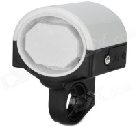 CycLex 360 Degree Rotation Electronic Horn for Bicycle Bell(White)