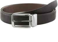 Gildermen Men Formal Brown, Black Genuine Leather Reversible Belt