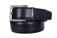 Cops Men Formal Black Artificial Leather Reversible Belt