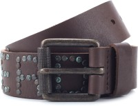 Superdry Men Brown Genuine Leather, Metal Belt