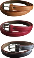 Verceys Girls Casual Tan, Red, Black Artificial Leather Belt