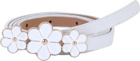 Alvaro Women Casual White Artificial Leather Belt