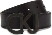 Calvin Klein Men Black Metal Belt