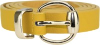 Genious Girls Casual, Formal Yellow Artificial Leather Belt