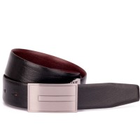 OHM New York Men Formal Black Genuine Leather Reversible Belt