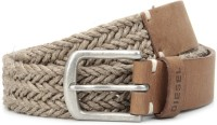 Diesel Men Beige, Brown Metal Belt