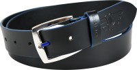 Police Men Black Genuine Leather Belt