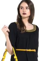 Kazo Women Casual Yellow Artificial Leather Belt