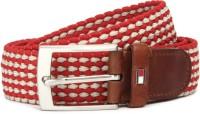 Tommy Hilfiger Men Red, Beige Metal Belt