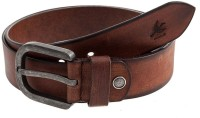 HORNBULL Men Casual Brown Genuine Leather Belt