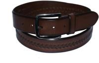 Pellezzari Men Casual Brown Genuine Leather Belt