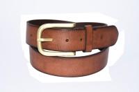 Pellezzari Men Casual Tan Genuine Leather Belt