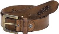 HORNBULL Men Casual Beige Genuine Leather Belt