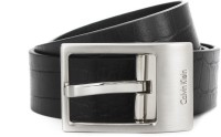 Calvin Klein Men Black Genuine Leather Reversible Belt