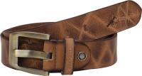 HORNBULL Men Casual Tan Genuine Leather Belt