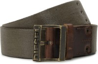 Diesel Men Green Metal Belt