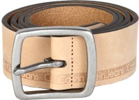 Calvin Klein Men Beige Genuine Leather Belt