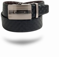 Azores Men Formal Brown, Black Genuine Leather Reversible Belt