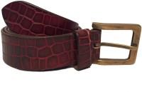Skyforest Men Casual Maroon Genuine Leather Belt