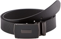 Gildermen Men Formal Black Genuine Leather Belt