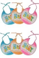 Aarushi Baby Feeding Bibs Pack Of 6(Multicolor)