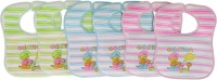 Aarushi Soft Cotton Velcro Baby Bib Pack of 6(Multicolor)