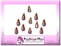 Fashion Max Mini Tika with Crystal Forehead Red Bindis(Fancy Design) - Price 120 52 % Off