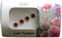 Lady Fashion Red Stone Forehead Red Bindis(Marathi Mulgi)
