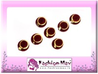 Fashion Max Red Full Moon with Inner Golden Layer Forehead Maroon Bindis(Everyday use)