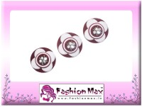 Fashion Max High Society Full Moon with Crystals Forehead Maroon Bindis(Fancy Design)