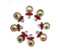 Fashion Max Marthi Mulgi Crystal Forehead Red Bindis(Fancy Design) - Price 135 46 % Off