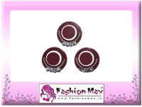 Fashion Max High Society Full Moon Triple Layer with Crystals Forehead Maroon Bindis(Fancy Design)