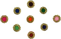 Instabuyz GOLDEN STONE FOREHEAD Multicolor Bindis(FANCY BINDI) - Price 148 60 % Off