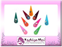 Fashion Max Multicolor Tika with Crystal Forehead Multicolor Bindis(Fancy Design)