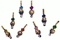 DCS Heart Shaped Girls Multicolor Bindis(Bridal Bindi)