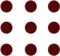 Vidhya Kangan Store Plain Bindi Forehead Red Bindis(Everyday use)