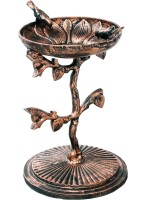 Karara Mujassme Cast Iron Antique Gold Bird Bath Common Bird Feeder(Gold)
