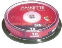 Amkette Pro CD-R 10 Cake Box(Pack of 10)