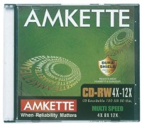 Amkette CD-RW 12x JC 10 Pack(Pack of 10)
