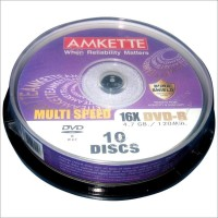 Amkette Pro DVD-R 10 Cake Box(Pack of 10)