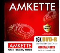 Amkette DVD-R 10 pack Jewel Case(Pack of 10)