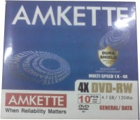 Amkette DVD-RW 4.7 GB 4x JC 10 Pack(Pack of 10)
