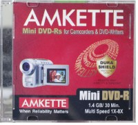 Amkette Mini DVD-R 1.4 GB 8x JC 10 Pack(Pack of 10)