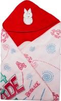 Utc Garments Cartoon Single Hooded Baby Blanket(Microfiber, Red)