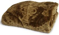 Tiajria Printed Double Mink Blanket(Microfiber, Brown)